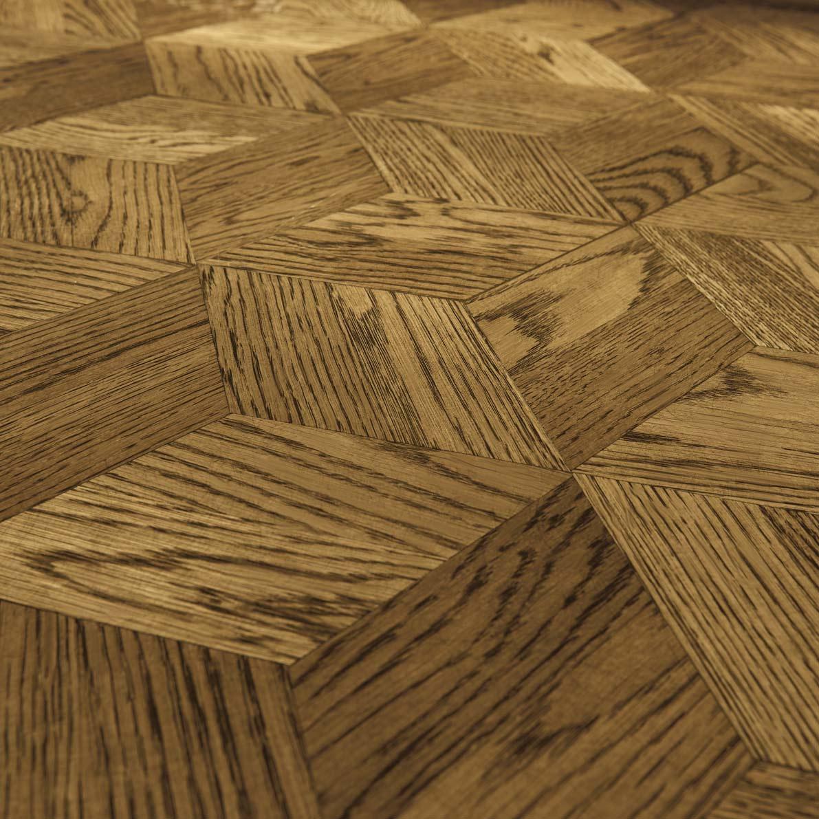 Site Finished-Rhombus-Parquet-design,-Bona-Twig-stain