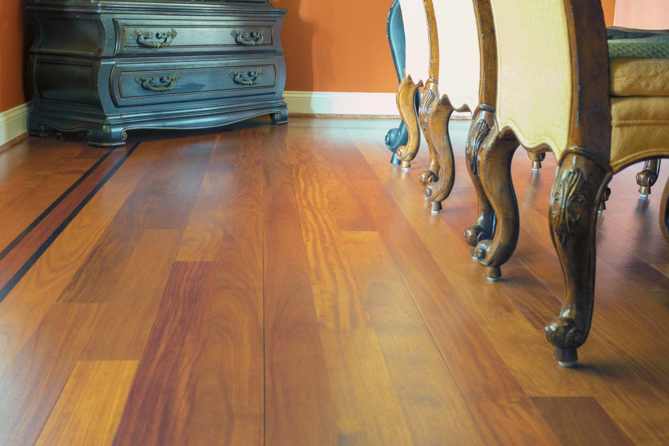 Site Finished-Santos-Mahogany-with-Wenge-feature-strip