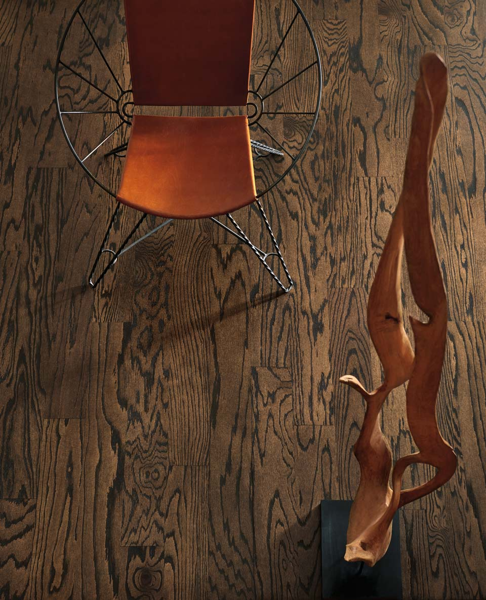 Site Finished-red-oak,-Bona-Coco-stain